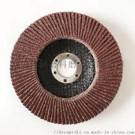 伟翔红砂115x22金属抛光片百叶轮砂布轮