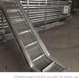 不锈钢链板提升机网带输送机规格按需定制