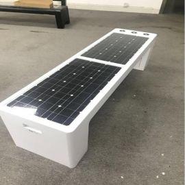 太白山景区智能太阳能座椅,智慧休闲充电椅