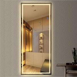 深圳卫浴镜品牌,带蓝牙防雾的酒店卫生间镜子,百澜菲