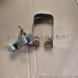 西安西码电机碳刷压簧 异型恒力卡簧支持定制
