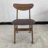 北欧简约小蝴蝶餐椅胡桃色原木色小户型餐椅