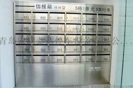 青岛厂家制作不锈钢信报箱