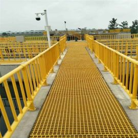 污水池玻璃钢栏杆厂家 污水厂玻璃钢护栏