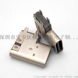 USB TYPE-C14.0侧插14Pin母座垫高