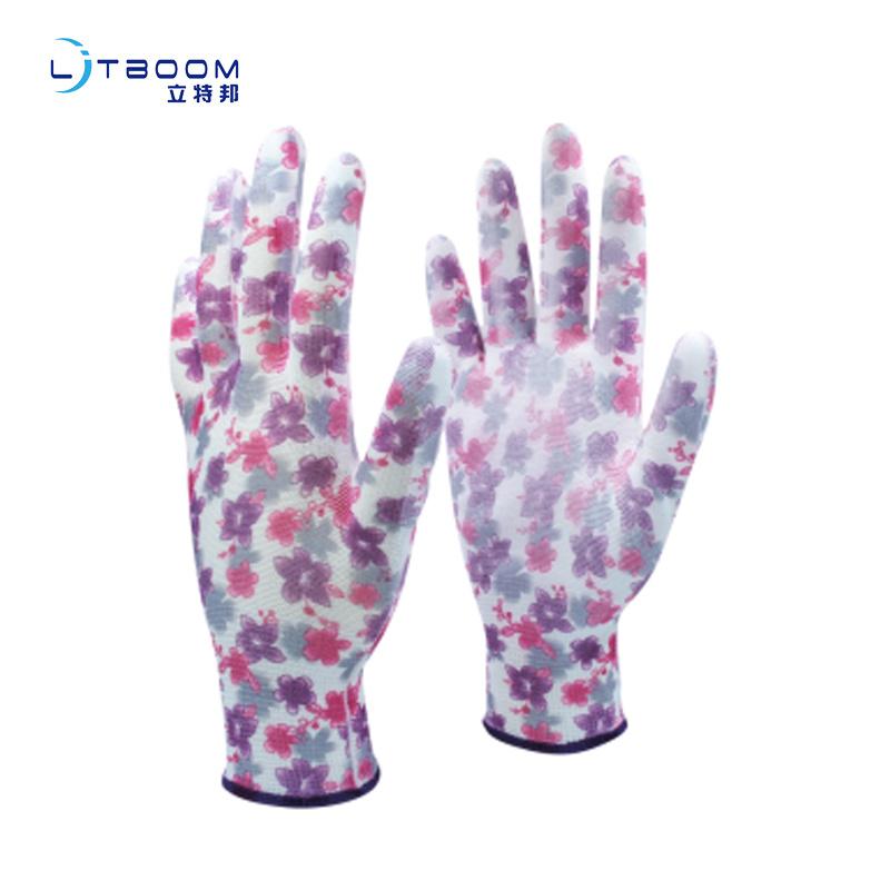 園藝類pu手套防護耐磨勞保防靜電手套