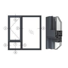 创高GL105W14A|B系列窗纱一体隔热外平开窗
