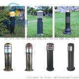 仿古銅草坪燈定製戶外公園鋁製柱頭燈中式落地燈