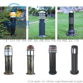 仿古铜草坪灯定制户外公园铝制柱头灯中式落地灯
