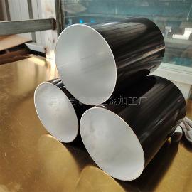江西别墅用圆形排水管 彩铝落水系统可安装