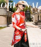 金天鹏2020春装苎麻新款中长裙服装进货一般在哪里