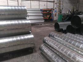 佛山新诚生产Q235B焊接无缝螺旋风管来图定做