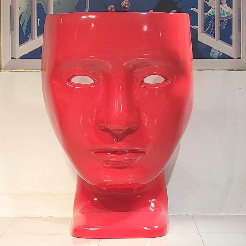 玻璃鋼 面具椅 人臉椅 休閒椅