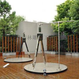 不锈钢圆规雕塑 抽象圆规雕塑  校园圆规雕塑