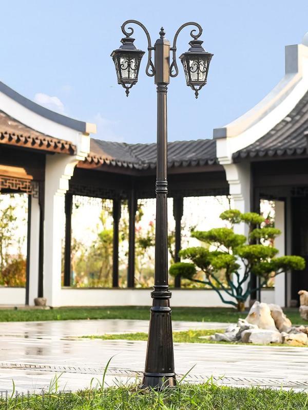 四川中晨 仿古庭院燈 雙頭太陽能路燈