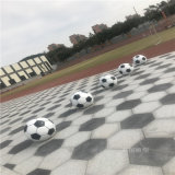 校園球場景觀足球雕塑 玻璃鋼模擬足球雕塑