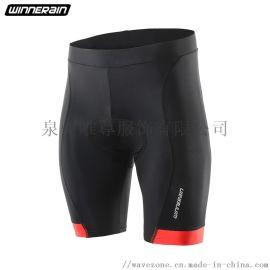 源头厂家直销骑行裤减震硅胶坐垫骑行服男防滑条紧身裤