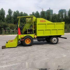 猪场粪污处理设备 自装自卸铲粪车 小型三轮铲粪车