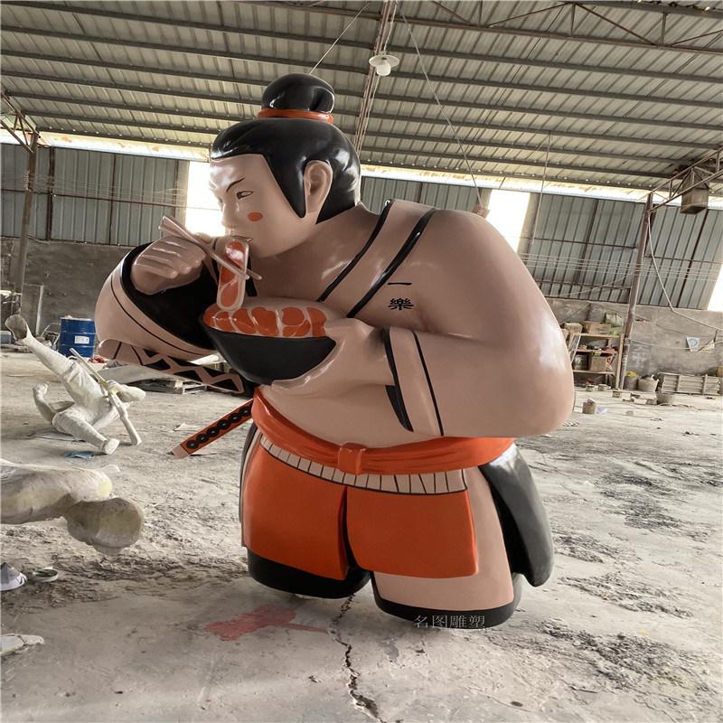 佛山玻璃钢人物浮雕雕塑面馆招牌玻璃钢雕塑设计定制