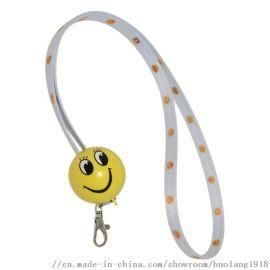 圆形挂绳数据线 一拖三工作证厂牌手机挂绳充电线定制
