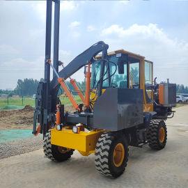 除尘款护栏打桩机厂家定制 环保型公路护栏打桩机