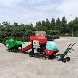 安平县青贮秸秆包膜机 麦草秸秆打捆机厂家直销