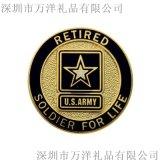 高档烤漆镀银异形金属徽章定做logo企业纪念胸章