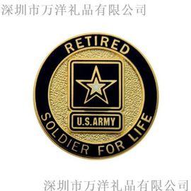 **烤漆镀银异形金属徽章定做logo企业纪念胸章