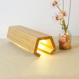 熊兴台灯卧室床头灯装饰创意调节光夜灯简约实木台灯