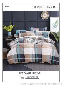 新款秋冬现货花型床上用品四件套磨毛被套床单套件