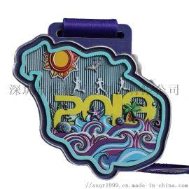 锌合金烤漆印刷奖牌,比赛奖牌定制,金属**奖牌