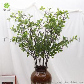 仿真米兰叶园林工程装饰绿植室内软装仿真植物叶子