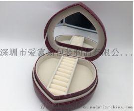 产地货源时尚创意新款戒指盒酒红色绒布礼品盒首饰盒摆件小首饰盒