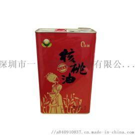 厂家定制马口铁罐食用油铁罐3L山茶油罐菜籽方形铁桶