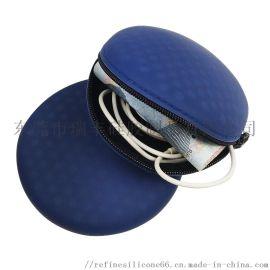 硅胶耳机包 硅胶零钱包 拉链圆形耳机收纳包