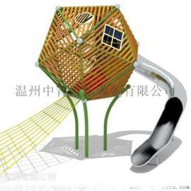 杭州西湖 景区不锈钢滑梯 非标定制户外大型组合滑梯