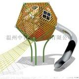 杭州西湖 景區不鏽鋼滑梯 非標定製戶外大型組合滑梯