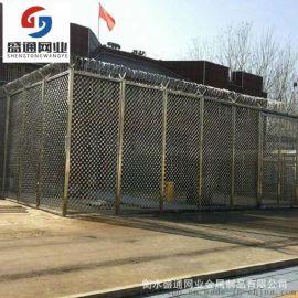 现货供应桥梁防眩防抛网 菱形钢板网护栏 高速公路中间防眩网