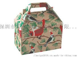 A9加强特硬瓦楞手提纸箱定制水果包装彩箱特产包装盒