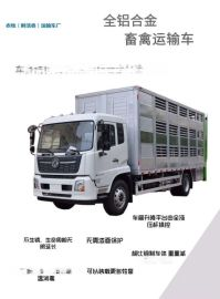 東風天錦6.8米鋁合金畜禽拉豬運輸車畜禽運輸車廠家