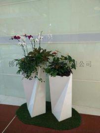 圆形不锈钢花盆 方形不锈钢花箱 酒店不锈钢花盆