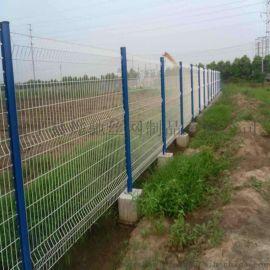 别墅庭院铁艺栅栏    欢乐谷三角折弯护栏网