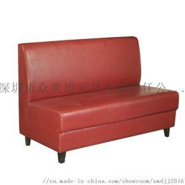 餐厅卡座定做,简约皮制软包沙发,茶餐厅卡位沙发定制