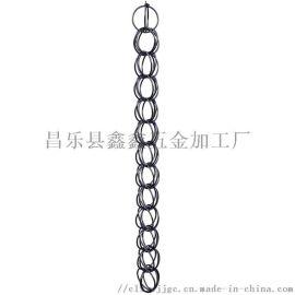 天津铝合金雨链生产厂家 公园排水链雨水链风铃
