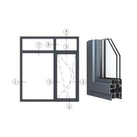 广东兴发铝业创高AL6024A|B系列内开内倒窗