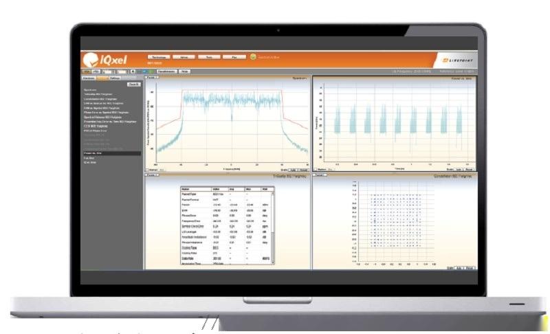 IQxel发射中心频率容限测试