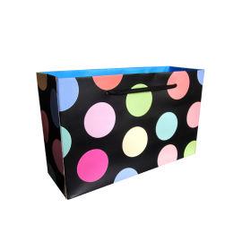 彩色圆点手提袋 服装袋礼品袋 加厚单铜纸袋环保袋