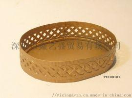 金色首饰化妆品收纳盘,椭圆形