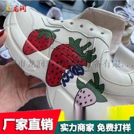 晋江鞋面皮革彩印机 理光2513卡通定制数码喷墨机