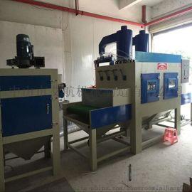 江西供应输送式自动喷砂机铁板除锈喷砂机